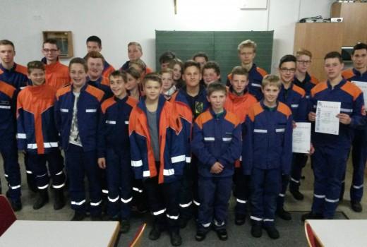 Wissenstest Jugendfeuerwehr Waldzell